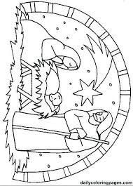 Christmas Nativity Scene Coloring Pages Raovat24hinfo