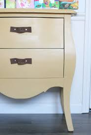 Learn how to make DIY Leather Drawer Pulls with labels on the pull for a  child's