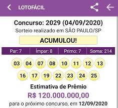 Resultado Lotofácil 04/09 Concurso: 2029... - Lotérica Nova Real
