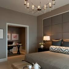 contemporary bedroom design. Wonderful Contemporary Example Of A Trendy Bedroom Design In Chicago With Gray Walls Throughout Contemporary Bedroom Design