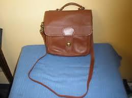 Get Quotations · Classic Rugged Coach Brown Leather Flap Shoulder Saddle  Bag Purse RARE Vtg Classic Rugged Coach Brown