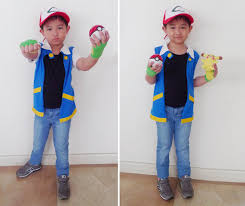 to complete the look he just wore a black shirt jeans and rubber shoes say hello to ash ketchum needless to say my son gave me his approval