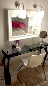 my version of the vanity made from ikea hacks hemnes mirror arstid wall lamps