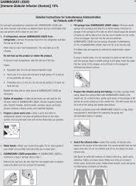 Gammagard Infusion Rate Chart Gammagard Coding Guide Pdf Free Download