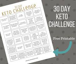 30 Day Healthy Eating Plan Keto 30 Day Challenge Printable Free Keto 30 Challenge