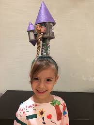 Crazy Hair Day Rapunzel Tower Hair Girl In 2019 Crazy Hair Days