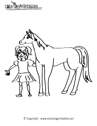 Printable Coloring Pages horse coloring pages to print for free : Girl Horse Coloring Page - A Free Animal Coloring Printable