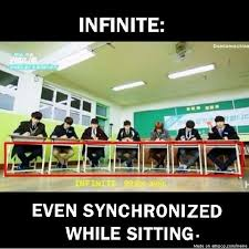 INFINITE always 99.9% sync... | allkpop Meme Center via Relatably.com