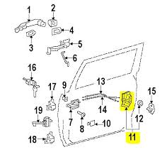 fj cruiser oem accessories from pure fj cruiser door lock actuator motor front left