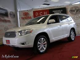 2010 Toyota Highlander Hybrid Limited 4WD in Blizzard White Pearl ...