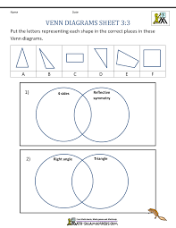 Venn Diagram Grade 3 Worksheets Magdalene Project Org
