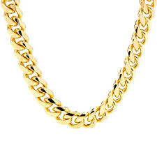 lifetime jewelry cuban link chain 11mm round 24k gold plated thick necklace guaranteed for life 18