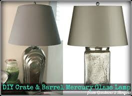 this lamp on the left was my dream lamp the lamp on the right is my copy the inspiration comes from crate barrel and i heart it big time