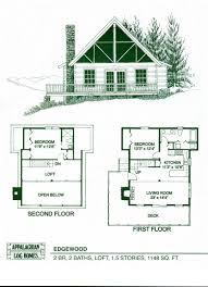 Log Cabin Floor Plans With Loft And Basement  AllstateLogHomes Cabin Floor Plans