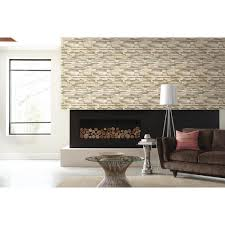 Peel And Stick Wall Decor Roommates 2818 Sq Ft Natural Flat Stone Peel And Stick Wall