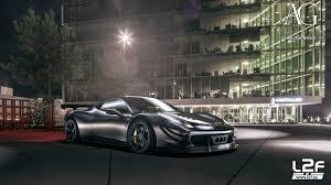 ferrari 458 matte black. gray ferrari 458 italia wide body forged monoblock staggered concave track wheels matte black