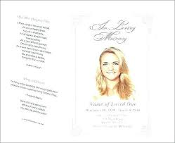 Funeral Program Template Publisher