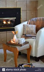 How To Light A Gas Fireplace Hygge Home Comfort With Soft Leather Bucket Chair Candles