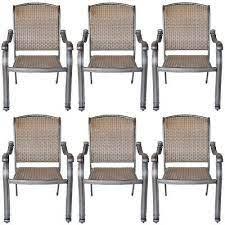 6 outdoor dining chairs santa clara