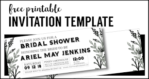 Free Templates For Invitations Printable Party Invitation Templates Free Printables Paper Trail Design