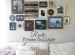 old fashioned collage of picture frames on wall idea elaboration