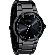 nixon watches overstock com the best prices on designer mens nixon men s a160 001 cannon all black stainless steel watch