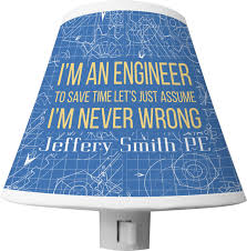 Engineer Quotes Shade Night Light Personalized Youcustomizeit