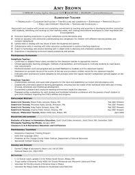 Elementary Teacher Resume Format Meltemplates