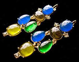 1 of 12 kate spade new york etruscan fantasy drop chandelier earrings nwt dangle blue