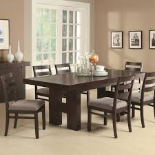 seven piece dining set: dabny  piece rectangular dining table set with pull out extension leaf