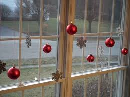 captivating red glass balls and snowflake ornaments hung applied