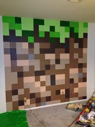 Minecraft Kids Bedroom Minecraft Bedroom Dirt Block Wall Minecraft Bedroom Pinterest