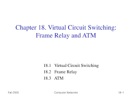 chapter 18 virtual circuit switching frame relay and atm n