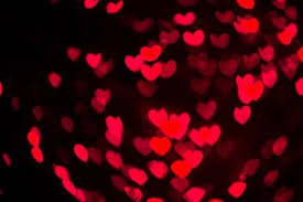red christmas lights background. Perfect Red Abstract Heart Shaped Bokeh Background Of Red Christmas Lights Stock Photo   24450464 On Red Lights Background