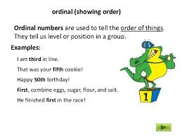 english numbers 9 ordinal numbers