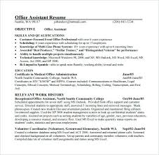 Sample Resume For Office Job Best Medical Assistant Sample Resume