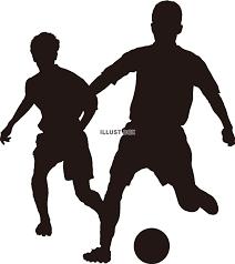 無料イラスト サッカー シルエット 競り合い