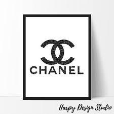 chanel logo. chanel logo, fashion coco print, black glitter, art, wall black, glitter printable logo