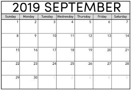 Free Calendar For September 2019 Holidays Net Market Media