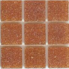 Mosaic Glass Tile Orange Terra Cotta Brio | Modwalls Designer Tile