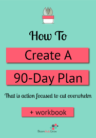 The 90 Day Focused Action Plan | Bloom Hustle Grow