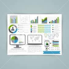 Chart Screen A Big Set Of Business Infographics Elements Including Bars