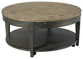 kincaid plank road artisans round cocktail table industrial coffee tables by emma mason