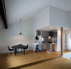 urban house furniture. Architecture, Small Kitchen Inside Reflection House Designed In Urban Style With Minimalist Furniture Placed Close