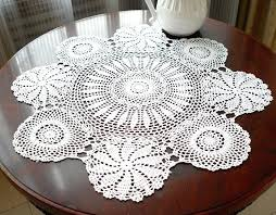 round table toppers vintage handmade white crochet a free crochet patterns for round table toppers round table toppers