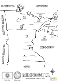 Small Picture Map of Minnesota coloring page Free Printable Coloring Pages