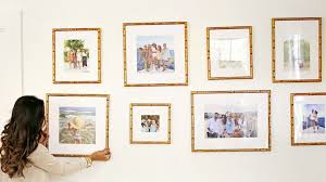 Family photo gallery wall in our Mandalay frame | Via Haute Off the Rack