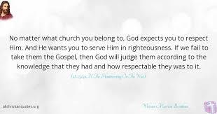 Gospel Quotes Inspiration William Marrion Branham Quote About Church Gospel Knowledge