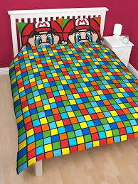 mario brothers bedding super brothers retro double panel duvet cover bedding set super mario brothers bedding