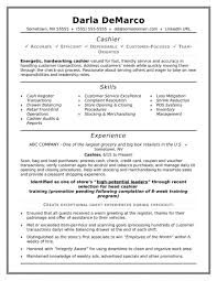 Fast Food Resume Sample Cashier Resumes Resume Sample Monster Com Responsibilities 59
